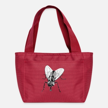 Fly Black fly insect - Lunch Bag
