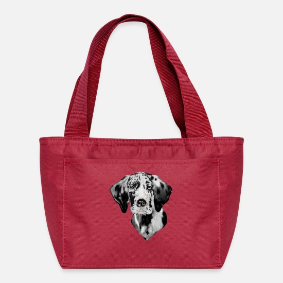 Great Dane Bags & Backpacks - Harlequin Great Dane - Lunch Box red