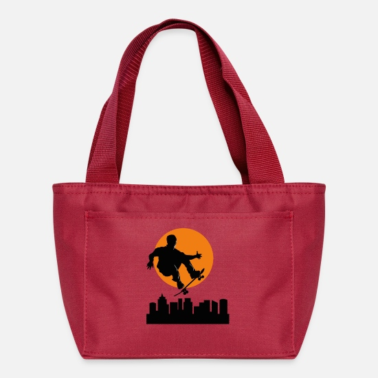 Image Bags & Backpacks - T shirt skateboarder streetwear vector cool image - Lunch Box red