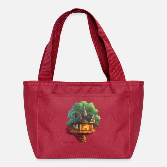 Tree Bags & Backpacks - Tree House - Lunch Box red