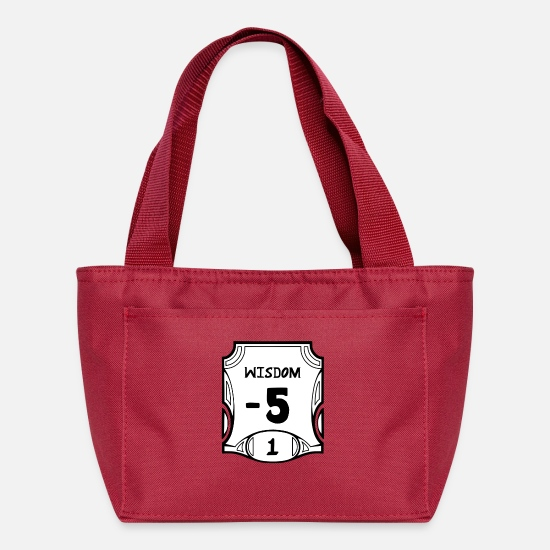 Constitution Bags & Backpacks - None of the Wisdom - Lunch Box red