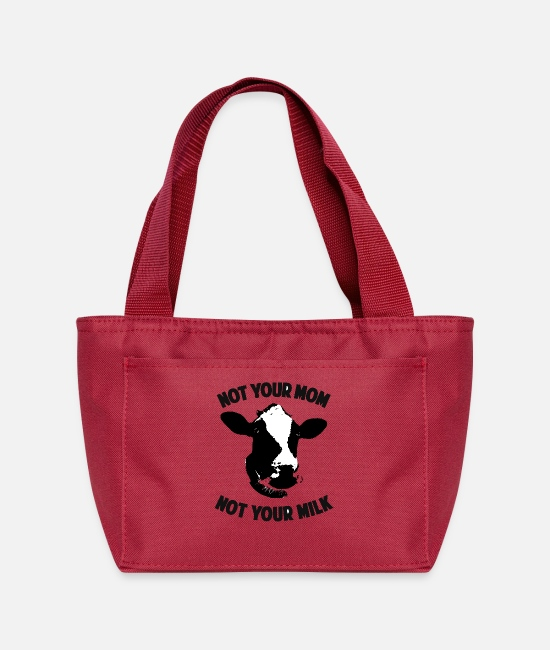 Mom Bags & Backpacks - Not your mom not your milk - Lunch Bag red