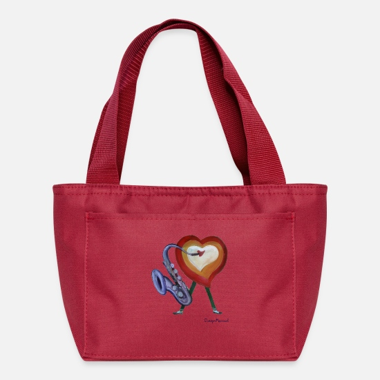 Corazon Bags & Backpacks - Corazon de jazz - Lunch Bag red