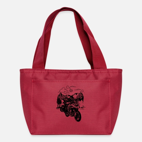 Moose Bags & Backpacks - Good Day to Ride - Lunch Box red
