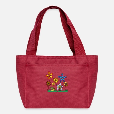 Meadow Snail on flower meadow - Lunch Bag