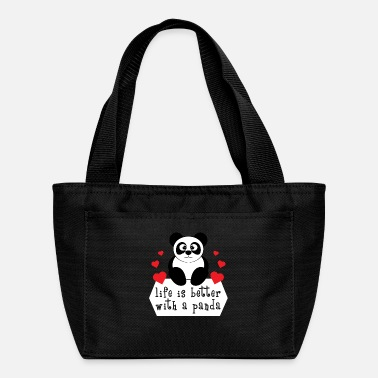Look Charm Anniversary The cute & lovely Panda Tee for a panda lover, - Lunch Bag