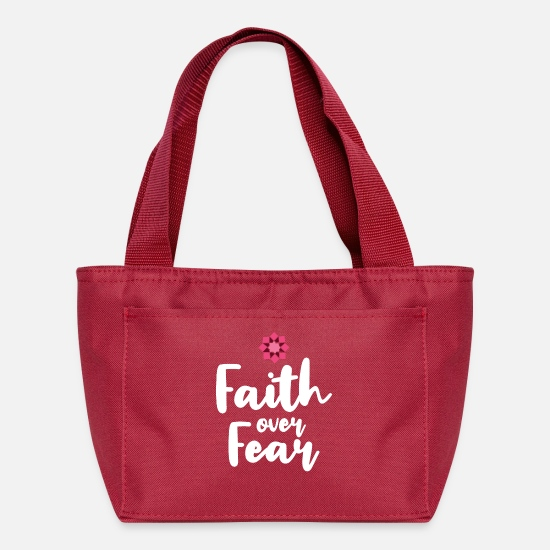 Verse Bags & Backpacks - Faith Over Fear - Lunch Box red