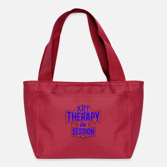 Typography Bags & Backpacks - Art therapy in session - Lunch Box red