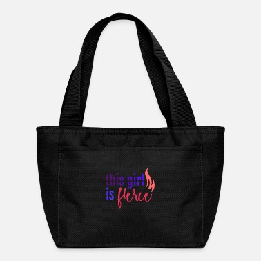 March Girl This girl is fierce - Lunch Bag