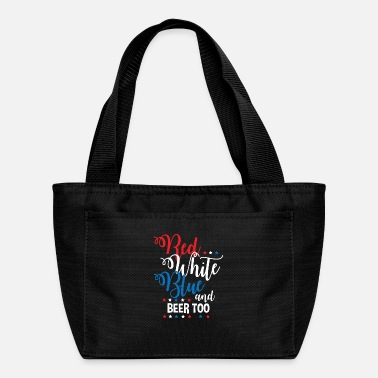 Beer Red White Blue Beer Funny Fourth of July Apparel - Lunch Bag