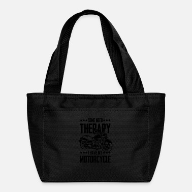 Chopper Motorcycle therapy funny saying - Lunch Bag