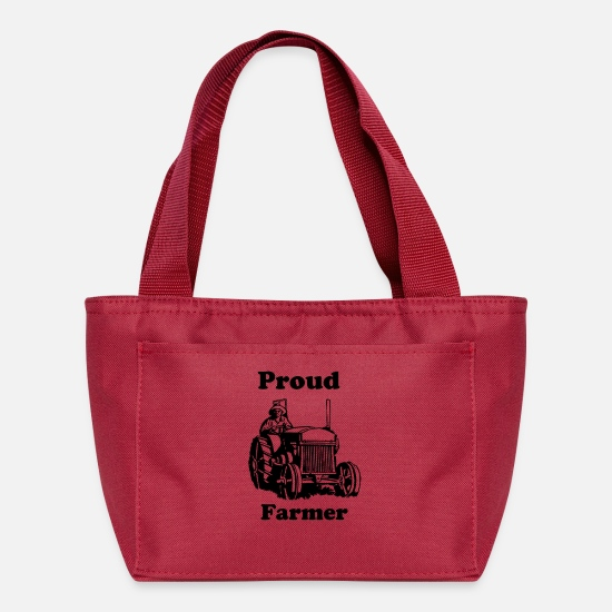 To Bags & Backpacks - Be proud to be a Farmer! - Lunch Bag red