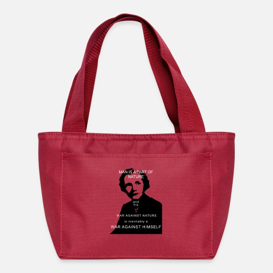 Climate Bags & Backpacks - Rachel Carson - Man is a part of nature - Lunch Box red