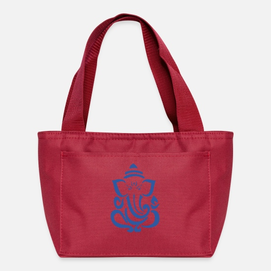 Ganesha Bags & Backpacks - Ganesh Blue - Lunch Bag red
