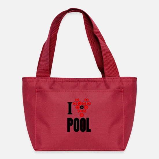 Heart Rate Bags & Backpacks - I heart pool - Lunch Bag red
