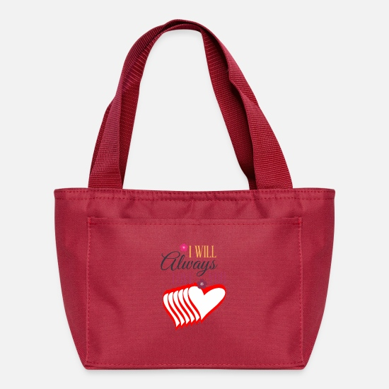 Valentine's Day Bags & Backpacks - Valentines day tshirt gift for her or him. - Lunch Bag red
