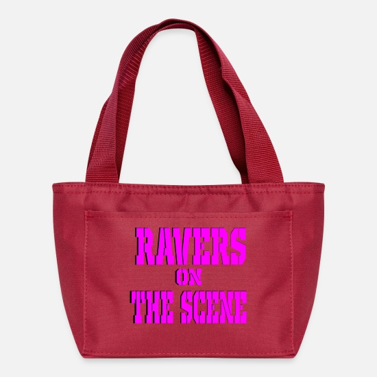 Loud Bags & Backpacks - ravers on the scene - Lunch Box red