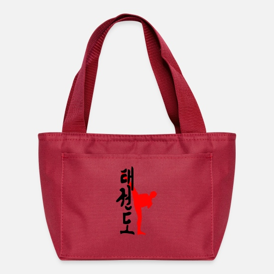 Kanji Bags & Backpacks - Taekwondo Kanji - Lunch Bag red