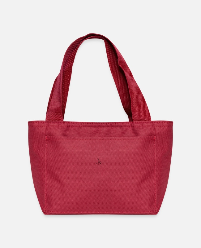 Aesthetic Lunch Boxes - house in hand - Lunch Bag red