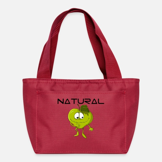 Eco Bags & Backpacks - Natural Apple Eco Bio - Lunch Box red