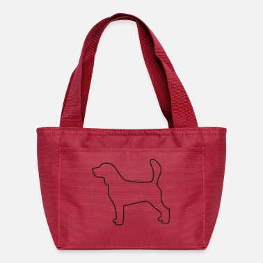 Outline beagle outline - Lunch Bag