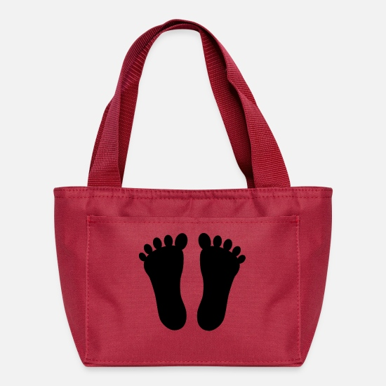 Feet Bags & Backpacks - feet - Lunch Bag red
