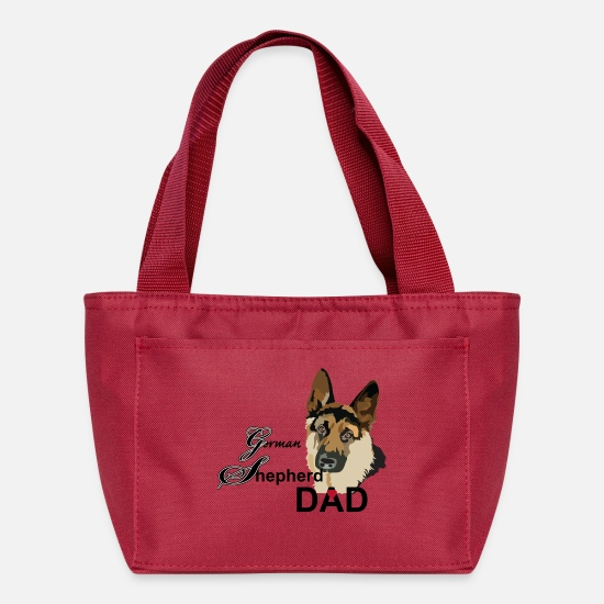 Pet Bags & Backpacks - German Shepherd Dad - Lunch Bag red