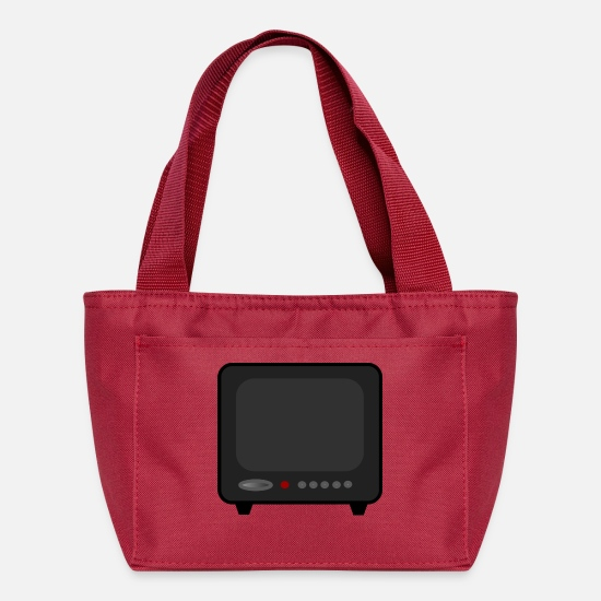 Tv Bags & Backpacks - monitor television fernseher tv flatscreen compute - Lunch Bag red