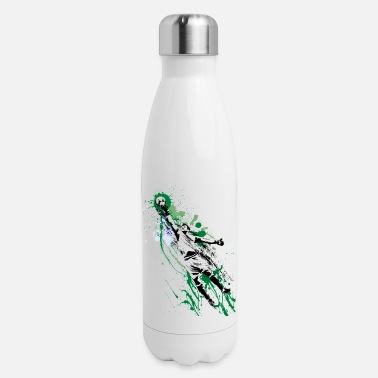 Club Soccer Goalkeeper Painted Art Fan Sporty Team Goal - Insulated Stainless Steel Water Bottle