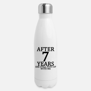 seventh_7th_anniversary_married_funny_ts - Insulated Stainless Steel Water Bottle