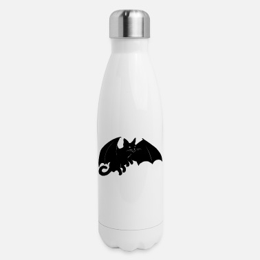 Halloween Vampire Bat Cat - Insulated Stainless Steel Water Bottle