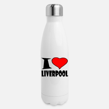 Liverpool I LOVE LIVERPOOL - Insulated Stainless Steel Water Bottle