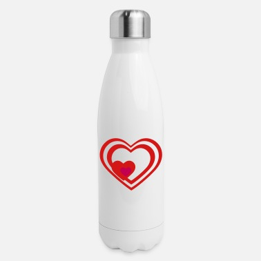 Heart Heart Hearts Love - Insulated Stainless Steel Water Bottle