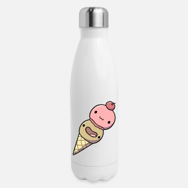 Ice Cream Cone Ice Cream Twin Scoop - Insulated Stainless Steel Water Bottle