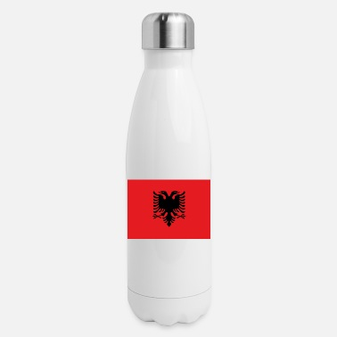 Flag Of Albania Flag of Albania drapeau Albanie - Insulated Stainless Steel Water Bottle