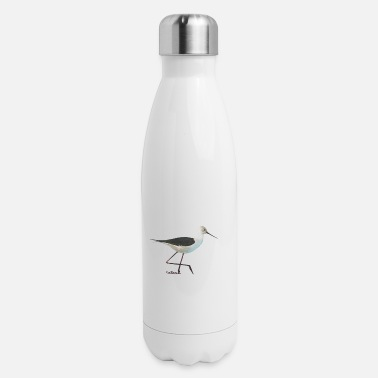Water Bird Water bird nature water wader painting artist - Insulated Stainless Steel Water Bottle