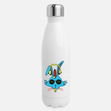 Headphones Rabbit Headphones Design for a Music Fan - Insulated Stainless Steel Water Bottle