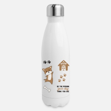 Set Dog Brown Puppy Paws Cute Sticker Pack - Insulated Stainless Steel Water Bottle