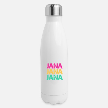 Surname Jana surname first name surname gift ideas - Insulated Stainless Steel Water Bottle