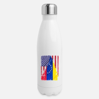 Bandera American Flag Venezuela Flag - Insulated Stainless Steel Water Bottle