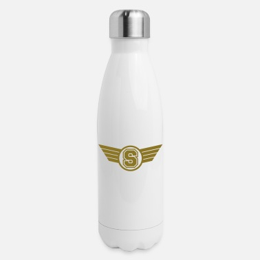 Initial S Design - Insulated Stainless Steel Water Bottle