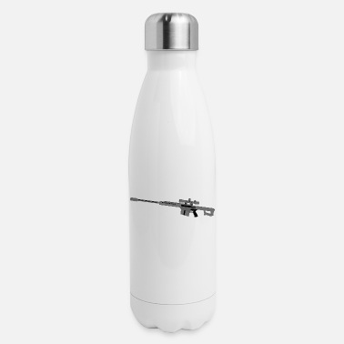 Caliber 50 Caliber Sniper Rifle - Insulated Stainless Steel Water Bottle