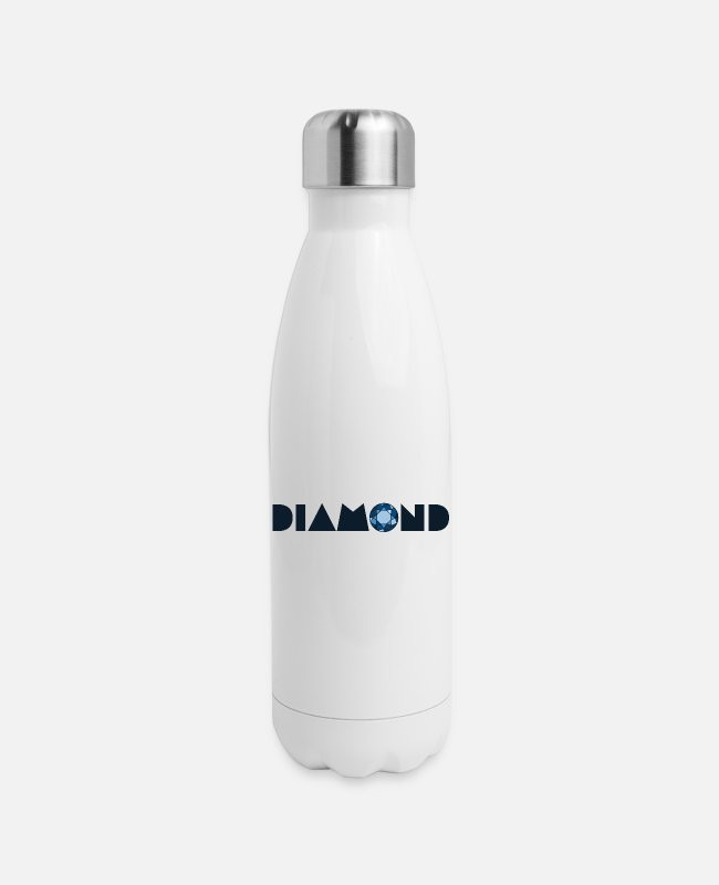 Cut Mugs & Cups - Brilliant cut blue diamond - Insulated Stainless Steel Water Bottle white