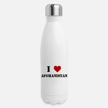 Afghanistan War Veteran I Love Afghanistan - Insulated Stainless Steel Water Bottle