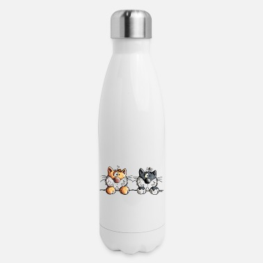 Naughty Two Naughty Cats - Cat - Comic - Gift - Insulated Stainless Steel Water Bottle