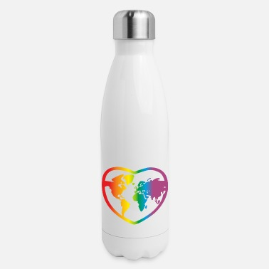 Gay Lgbt Rainbow World, Gay Pride - Insulated Stainless Steel Water Bottle
