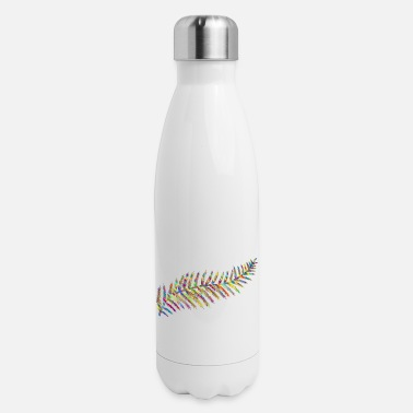 Flecked Prismatic Fern Leaf Silhouette By Karen Arnold - Insulated Stainless Steel Water Bottle