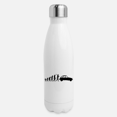Model 2CV Duck Evolution Silhouette Shape Classic Car R - Insulated Stainless Steel Water Bottle