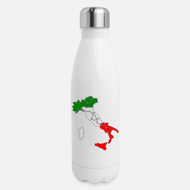 Italy Map Italy Map - Insulated Stainless Steel Water Bottle