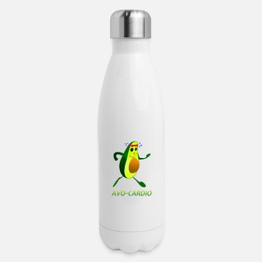 Running Avo-Cardio watercolor Funny Running - Jogging - Insulated Stainless Steel Water Bottle